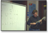Tim O'Brien teaching mandolin in 2005